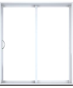 Porte patio en PVC ou aluminium